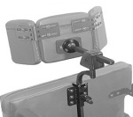 multi axis wheelchair headrest