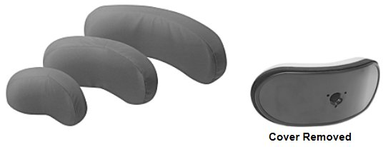 headrests 3 sizes with cover removed