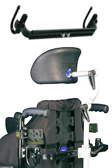 back tube mounting wheelchair headrests