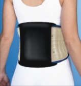 traction belt with panel - back