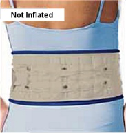 back traction belt not inflated