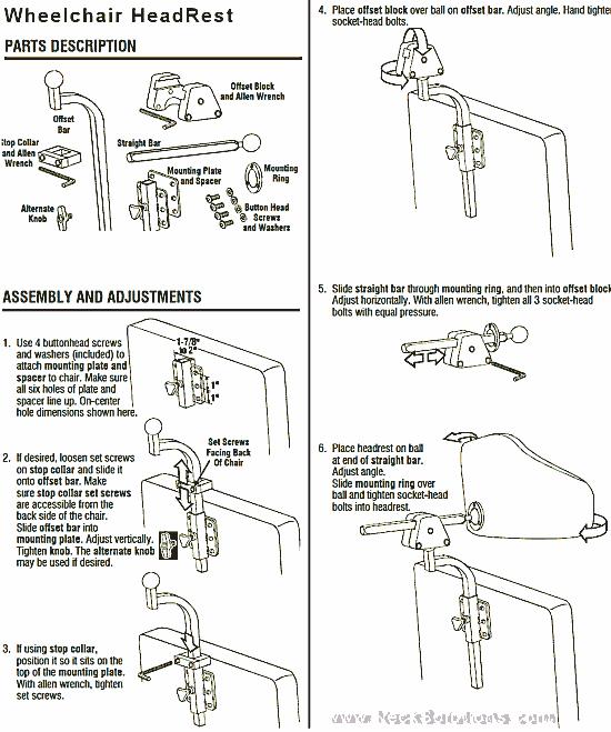 headrest & hardware details