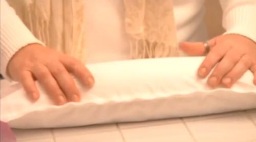 memory foam in down pillows