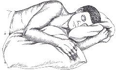pillow support for shoulder strain