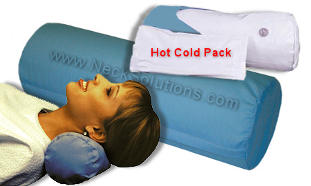 hot cold neck roll pillow