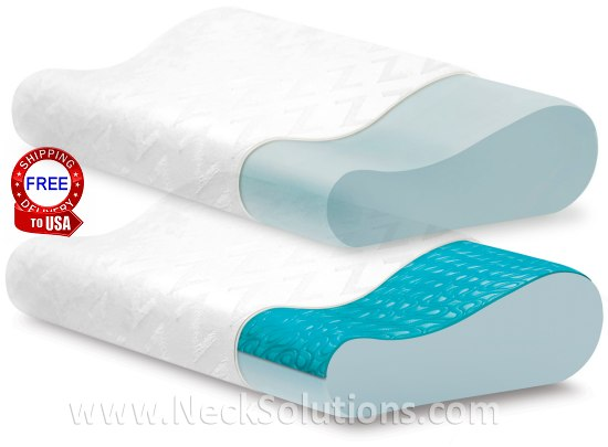Cooling Gel Memory Foam Pillow Pharmedoc Contour Memory