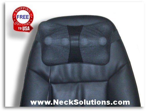 neck massager on chair