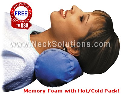 Neck Roll Pillow Memory Foam Neck Roll Pillow