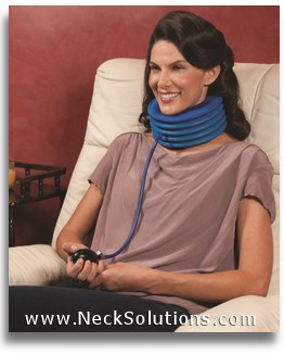 portable neck traction collar