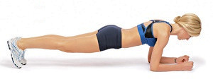 plank/prone bridge exercise