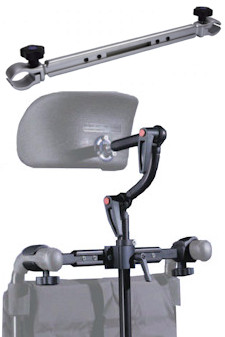 wheelchair headrest handlebar mounting