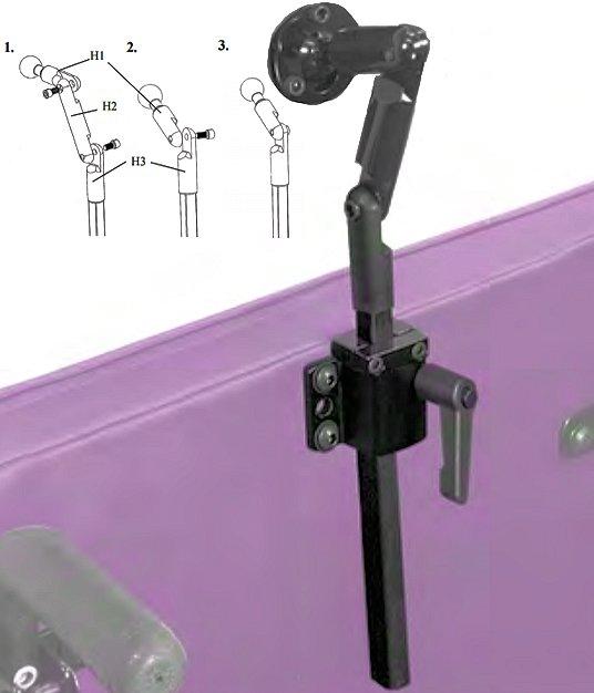 surelock wheelchair headrest hardware
