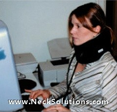 neck traction while working