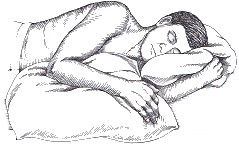 pillow support for shoulder strain