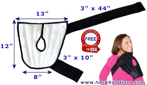microwavable shoulder heating pad