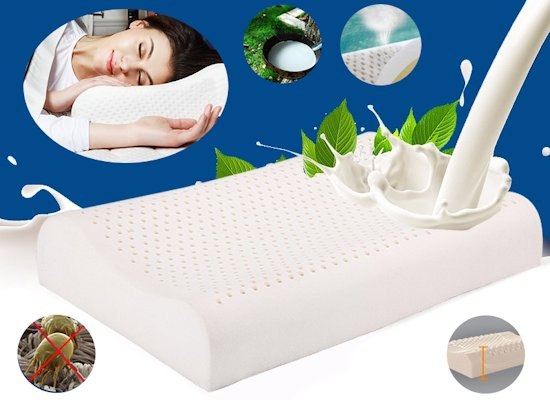 Yanis Traditional Dunlop Latex Pillow : Latex Pillow - Natural Latex Pillows For Neck Pain In Luxurious Talalay