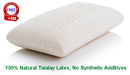 Yanis Traditional Dunlop Latex Pillow : Latex Pillow - Natural Latex Pillows For Neck Pain In Talalay & Dunlop