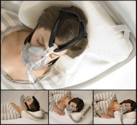 cpap pillow with mask and tube management system