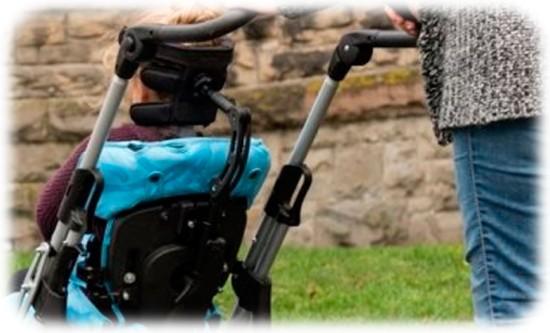 wheelchair headrest for head control