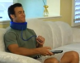 inflating neck brace