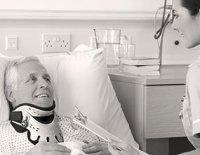 patient using collar