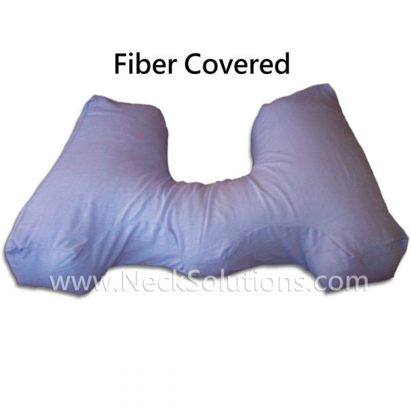 fiber pillow covered