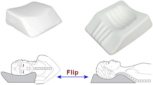 flip pillow to change positions