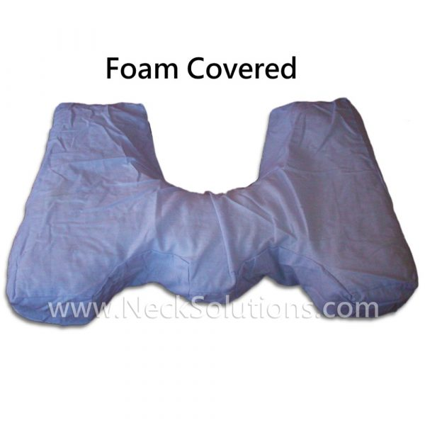 foam pillow covered
