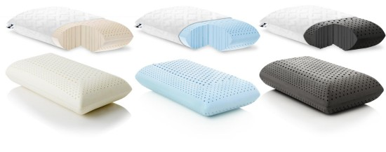 infused memory foam pillows