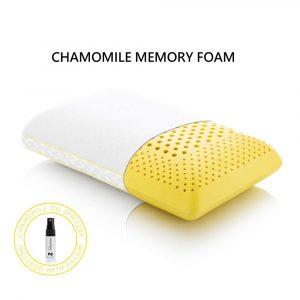 chamomile memory foam pillow