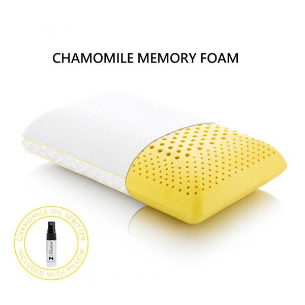 chamomile memory foam pillow