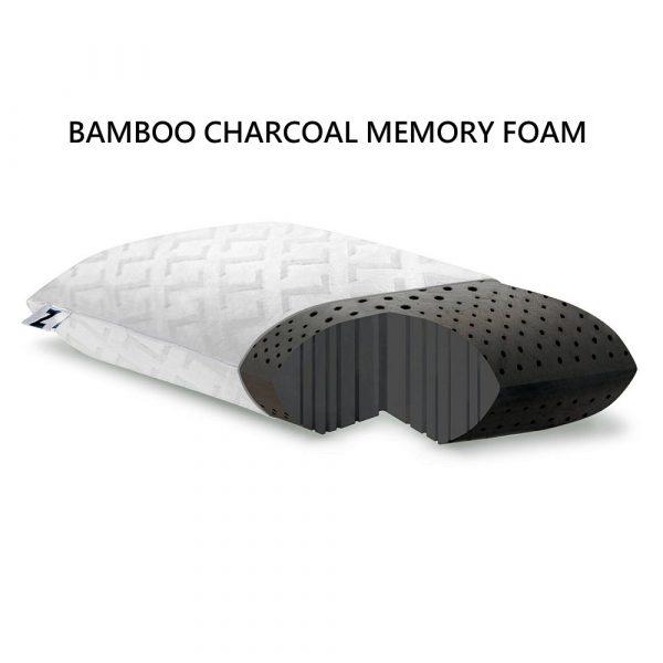 bamboo charcoal memory foam pillow