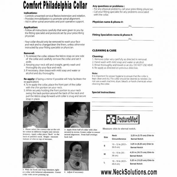 philadelphia collar printout