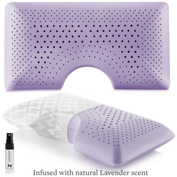 lavender side sleeper pillow