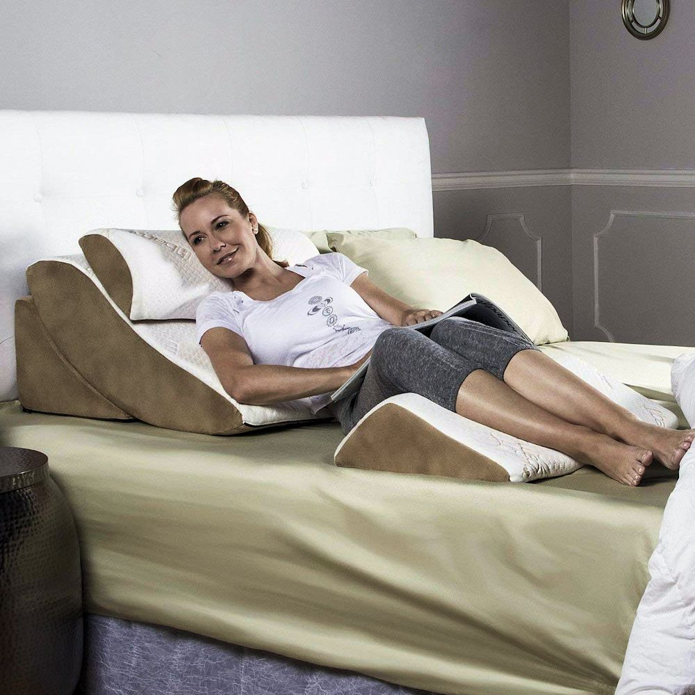 Bed Wedge Pillow Leg Amp Body Wedge Relieves Stress