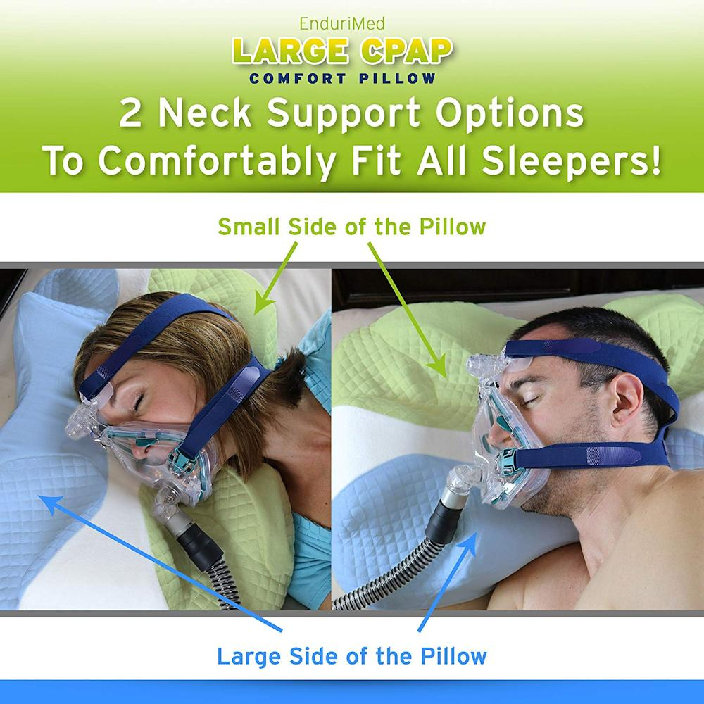 Memory Foam Cpap Pillow For Stomach Back Amp Side Sleepers