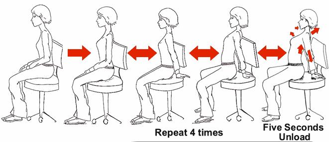 sitting back exercise