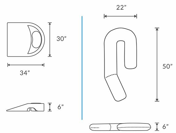 shoulder pillow diagram