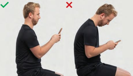 posture to avoid text neck