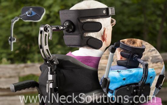special wheelchair headrests